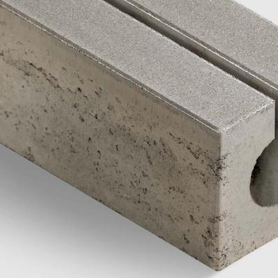Rinnenstein betongrau