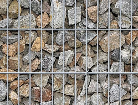 Gabione Granit geschüttet