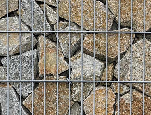 Gabione Granit handgeschichtet